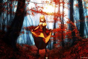 forest dress anime