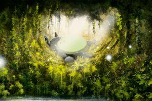 forest my neighbor totoro studio ghibli anime totoro sleeping