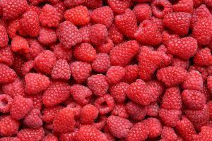 fruit berries food raspberries