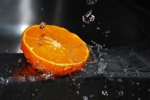 fruit food water water drops orange