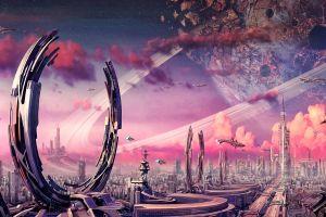 futuristic city cityscape futuristic