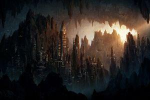 futuristic city futuristic artwork cityscape