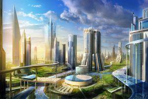 futuristic city futuristic city cityscape landscape