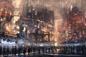 futuristic city science fiction cyberpunk futuristic