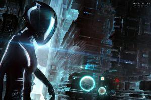 futuristic city science fiction futuristic