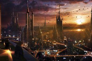 futuristic cityscape city futuristic city science fiction