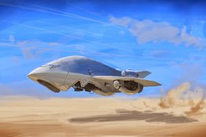 futuristic drawing science fiction