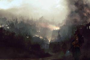 futuristic fire artwork apocalyptic painting