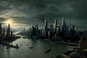 futuristic futuristic city artwork city skyscraper