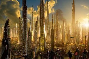 futuristic futuristic city science fiction