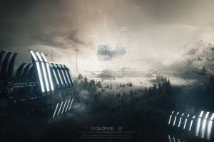 futuristic planet science fiction
