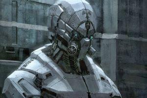 futuristic robot science fiction
