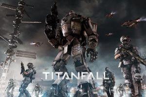 futuristic science fiction titanfall mech digital art video games