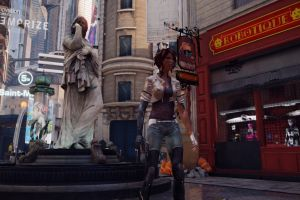 futuristic video games nilin  remember me statue