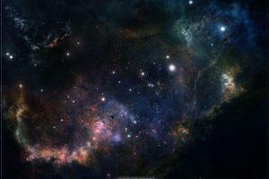 galaxy space art space nebula stars digital art