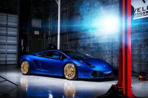 gallardo lamborghini digital art vehicle blue cars