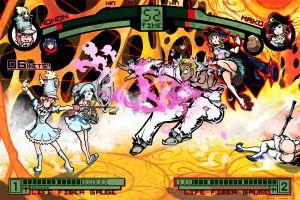 gamagouri ira video games jakuzure nonon anime girls fighting kiryuin satsuki mankanshoku mako artwork anime kill la kill