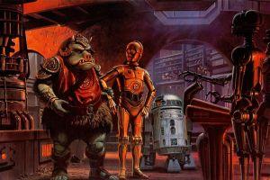 gamorrean guard c-3po artwork star wars r2-d2 science fiction