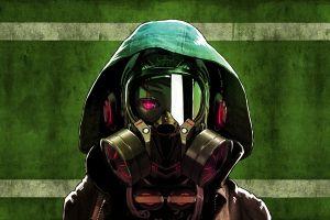 gas masks anime girls artwork anime