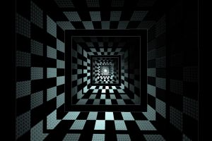 geometry square optical illusion abstract
