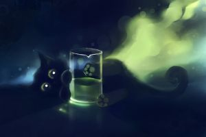 glass artwork apofiss animals cats black cats deviantart painting