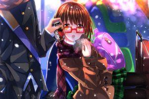 glasses anime girls swordsouls meganekko anime brunette