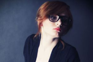 glasses redhead face model women women with glasses looking away