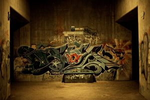 graffiti urban wall