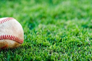 grass baseball outdoors depth of field sport