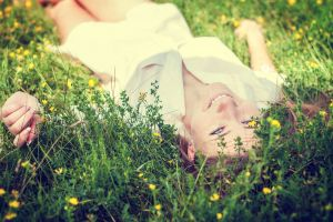 grass women women outdoors