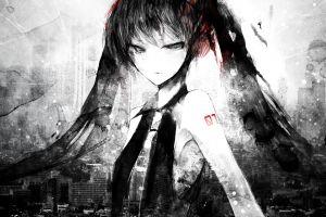 gray anime girls anime hatsune miku twintails vocaloid