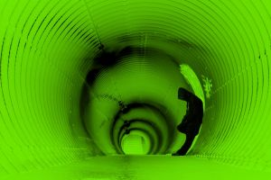 green tunnel photography people men