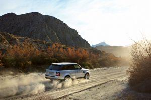 grey cars range rover car suv