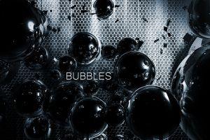 grid metal bubbles render digital art sphere dark abstract