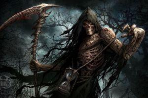 grim reaper fantasy art skull creature artwork
