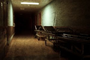 grunge ruin hallway hospital