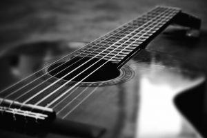 guitar monochrome music musical instrument