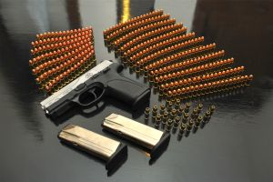 gun weapon pistol ammunition