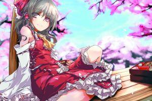 hakurei reimu anime girls detached sleeves touhou