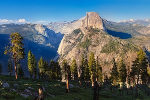half dome usa landscape yosemite national park