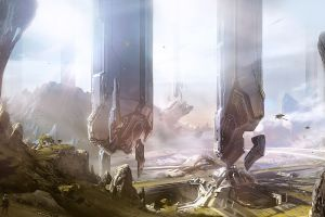 halo halo 4 video games concept art