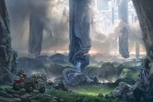 halo science fiction video game art video games
