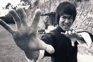 hands bruce lee men actor monochrome warrior