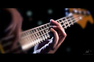 hands musical instrument bass guitars guitar