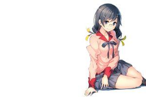 hanekawa tsubasa school uniform monogatari series anime anime girls