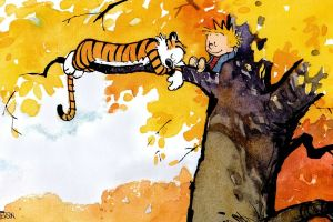 happiness trees calvin and hobbes fall
