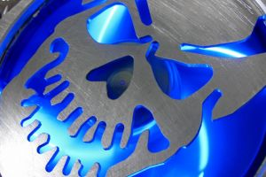 hardware computer fans skull blue