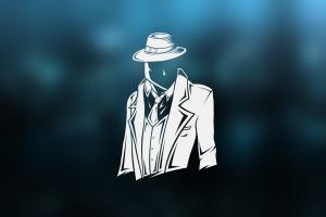 hat suits simple background minimalism men