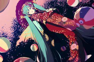 hatsune miku anime vocaloid anime girls traditional clothing