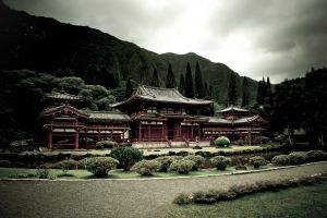 hawaii garden temple landscape the byodo-in temple building asian architecture